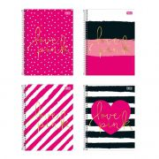 Caderno Universitário 1 Matéria Love Pink