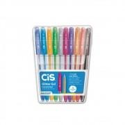 Caneta Cis Glitter Gel c/ 10 Cores