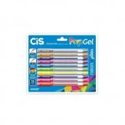 Caneta Cis Pop Gel c/10 Cores
