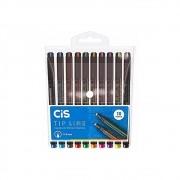 Caneta Cis Tip Line c/ 10 Cores