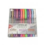 Caneta Gel Effect Tris c/ 12 cores