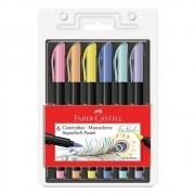 Caneta SuperSoft FC Brush c/ 6 Cores Pastel