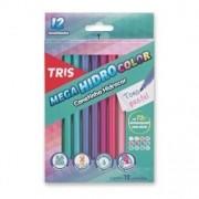 Hidrocor Mega HidroColor Tris Pastel c/ 12 Cores