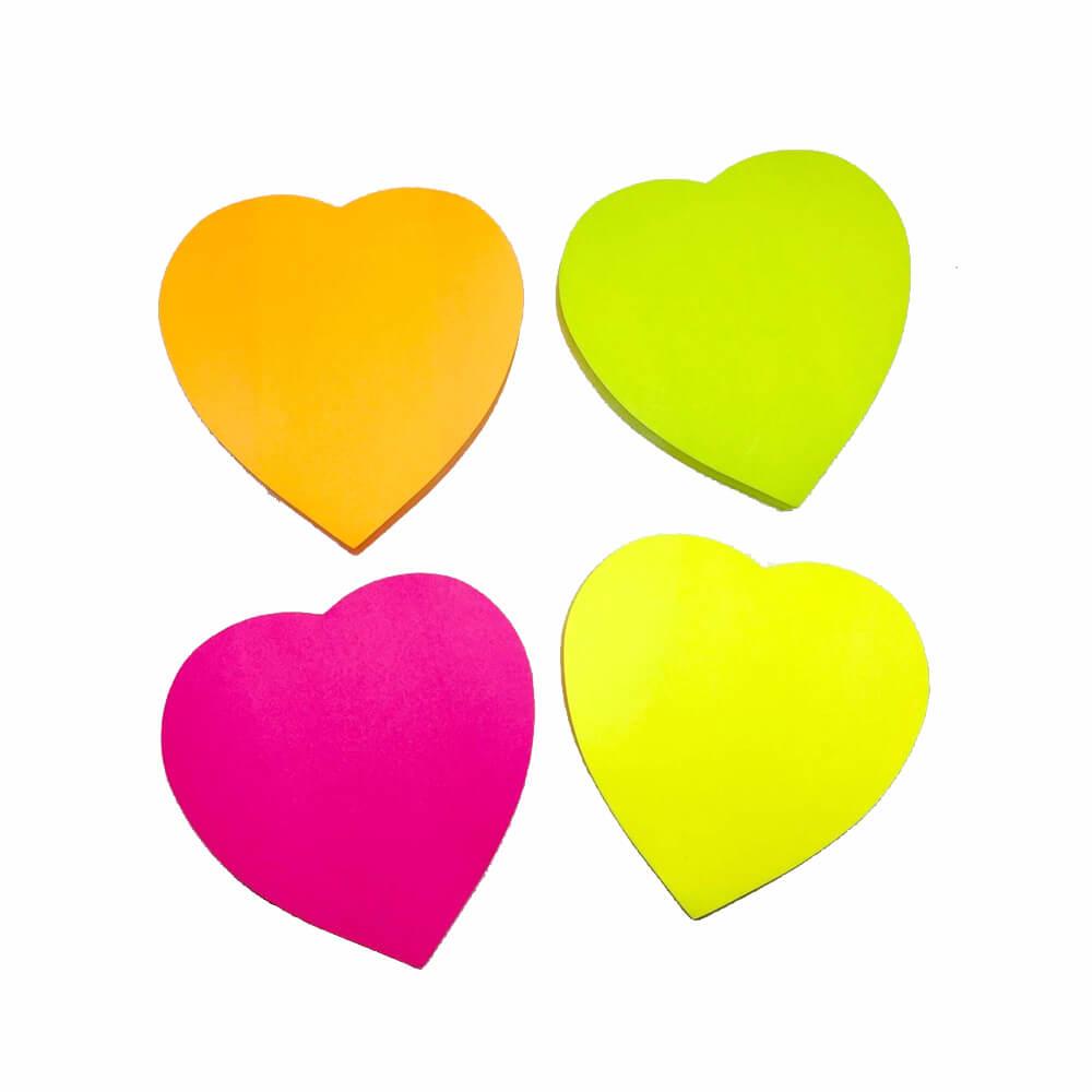 Bloco Adesivo Coração Neon Eagle  - Papel Pautado