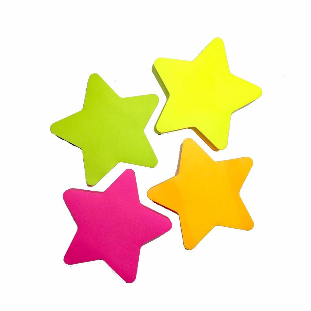 Bloco Adesivo Estrela Neon Eagle  - Papel Pautado
