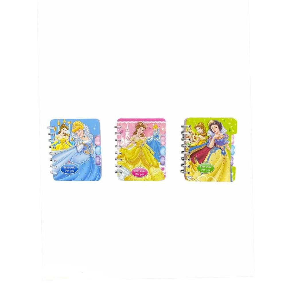 Bloco de Notas Princesas Disney  - Papel Pautado