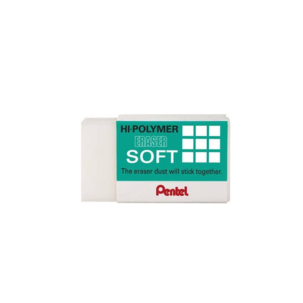Borracha Pentel Hi-Polymer Soft Zes-08  - Papel Pautado