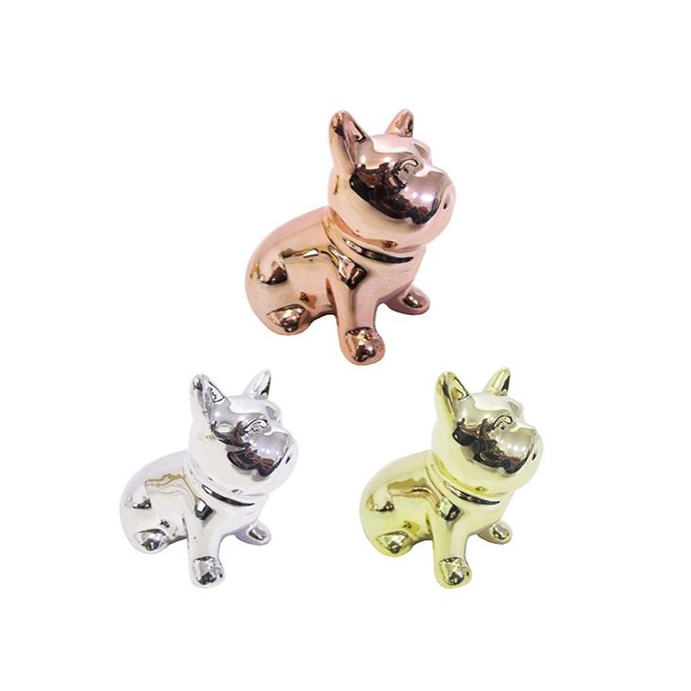 Cachorro de Porcelana Prateado  - Papel Pautado