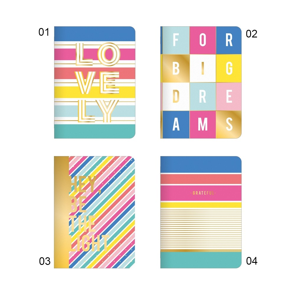 Caderneta Grampeada Be Nice 32 Folhas  - Papel Pautado