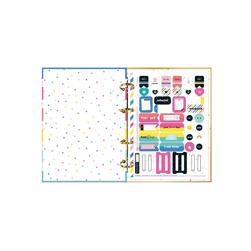 Caderno Argolado Cartonado Colegial Be Nice 160 Folhas  - Papel Pautado