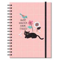 Caderno Colegial Gatos 10 matérias