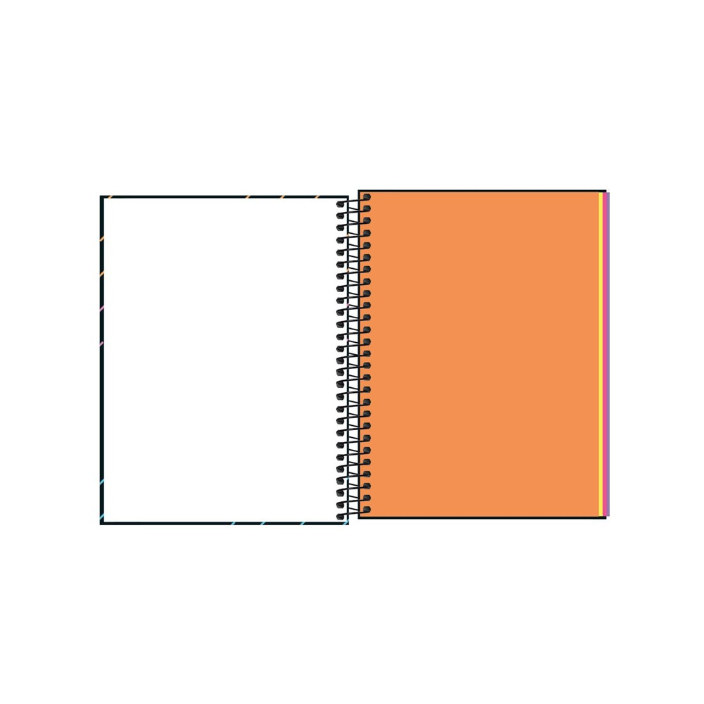 Caderno Colegial Neon Kori Tilibra 1 Matéria  - Papel Pautado