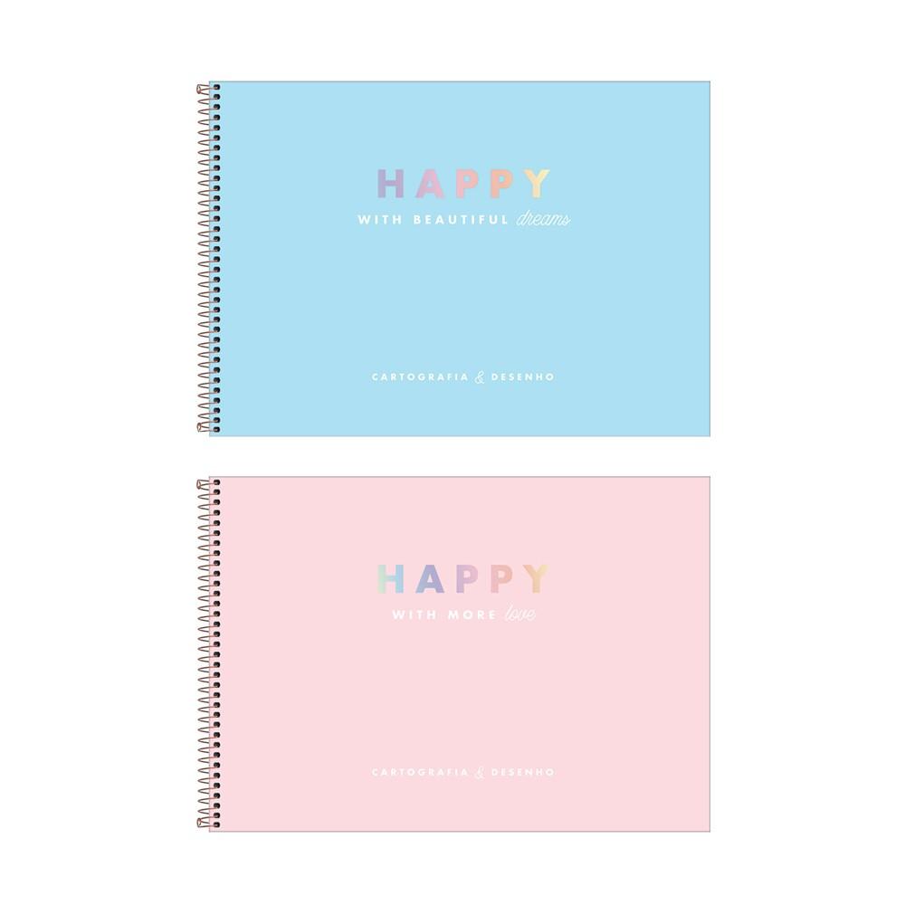 Caderno de Desenho Happy Tilibra  - Papel Pautado