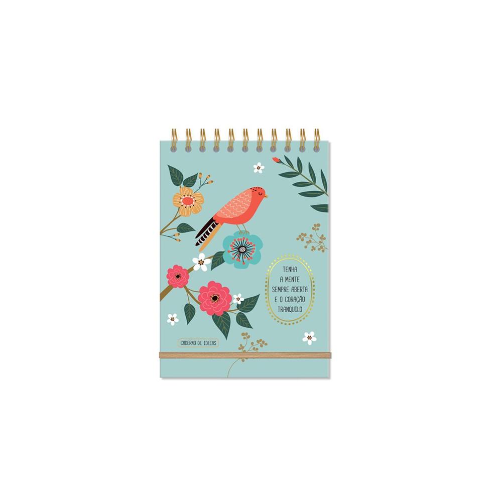 Caderno de Ideias Pássaros Fina Ideia  - Papel Pautado