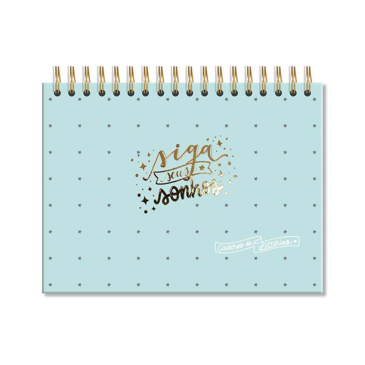 Caderno de Lettering Fls Brancas  - Papel Pautado