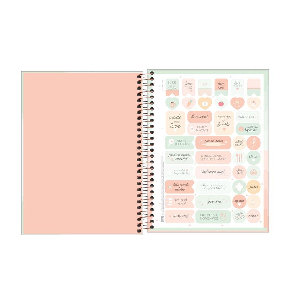 Caderno de Receitas Tilibra Soho 80 Folhas  - Papel Pautado