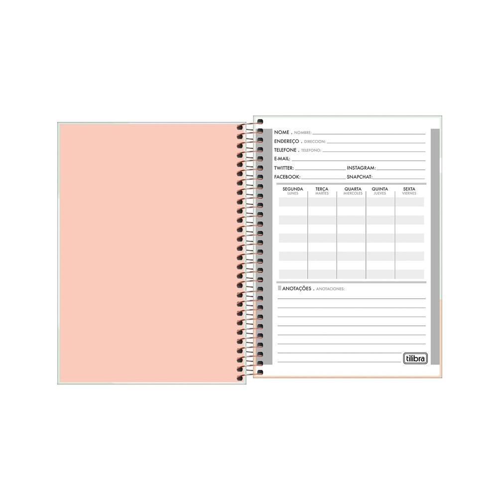 Caderno Espiral Soho 1/4 Tilibra 80 Folhas  - Papel Pautado