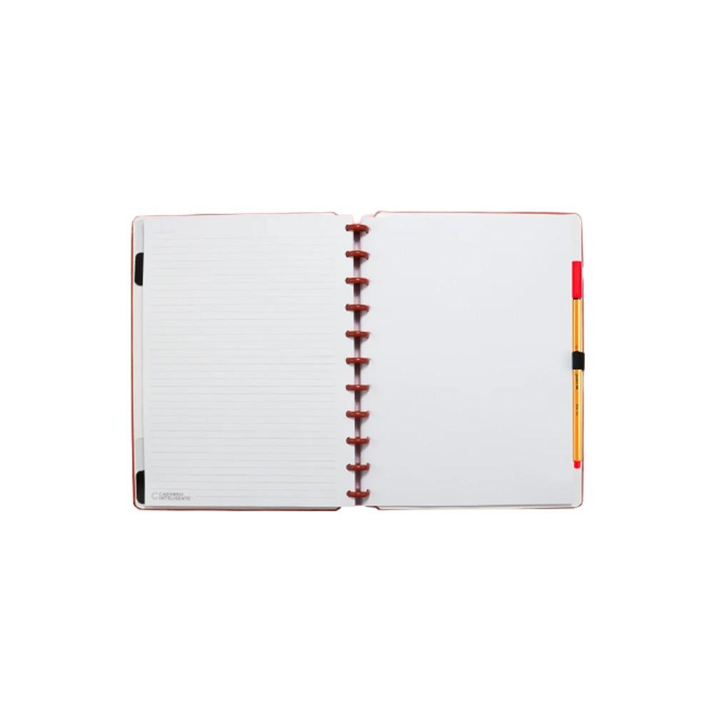 Caderno Inteligente All Red  - Papel Pautado