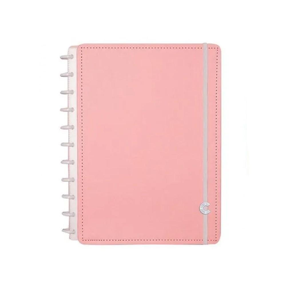 Caderno Inteligente Rosa Pastel  - Papel Pautado