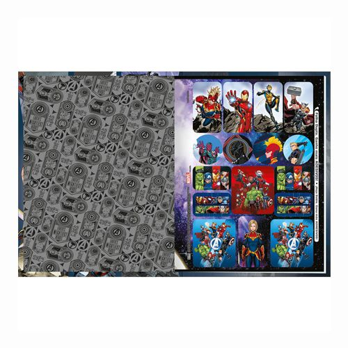 Caderno Univ. Brochura Avengers Tilibra 80F  - Papel Pautado