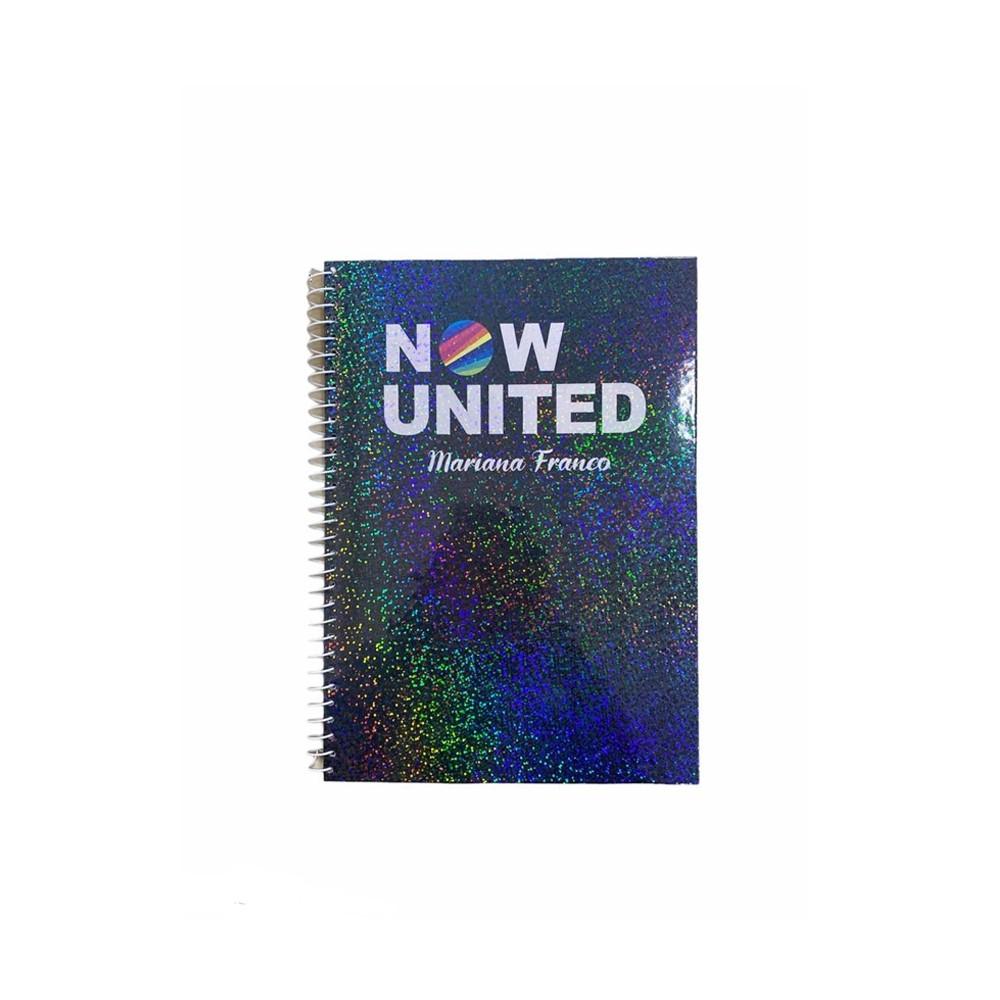 Caderno Univ. Personalizado Now United  - Papel Pautado