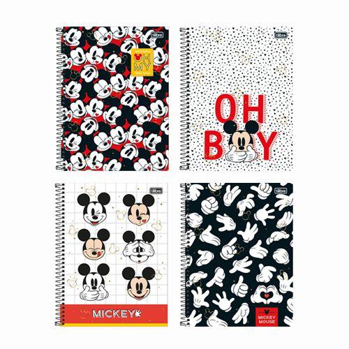 Caderno Universitário 12 MatériaS Mickey