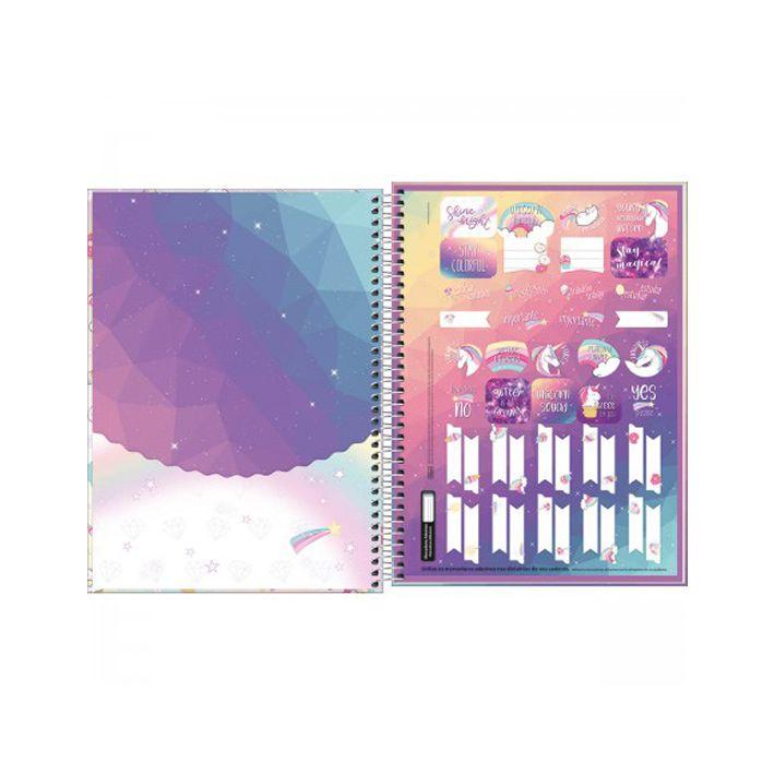 Caderno Universitário 16 Matérias Blink  - Papel Pautado