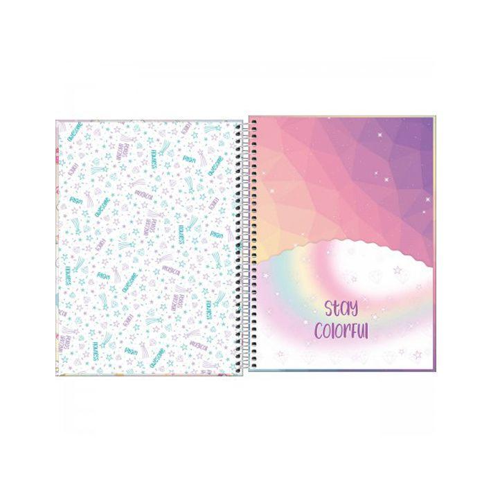 Caderno Universitário 1 Matéria Blink  - Papel Pautado
