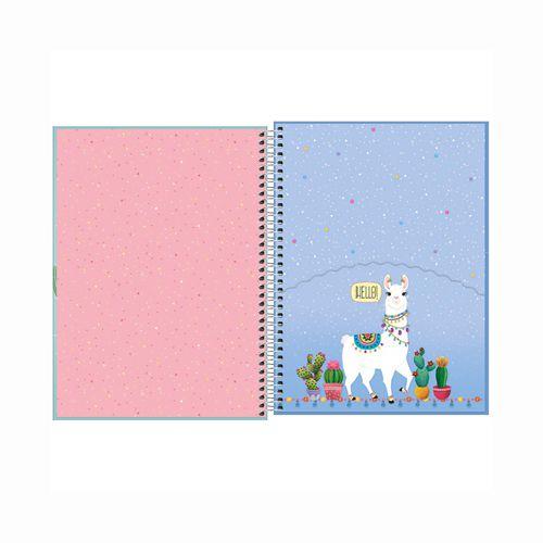 Caderno Universitário 1 Matéria Hello  - Papel Pautado