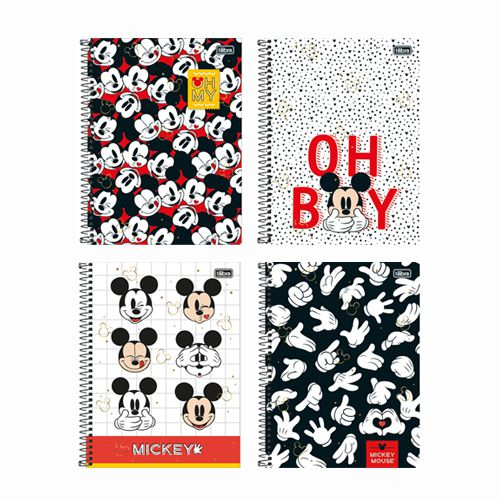Caderno Universitário 1 Matéria Mickey