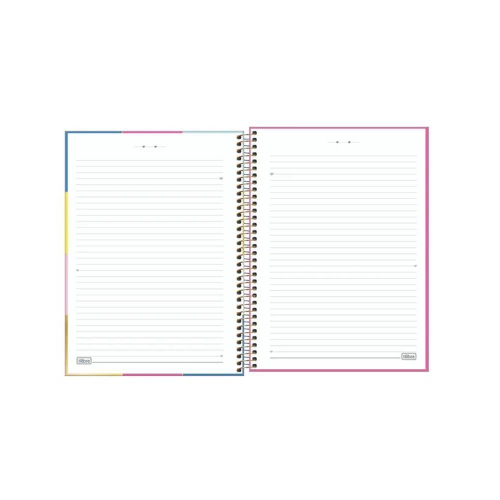 Caderno Universitário Be Nice Tilibra 10 Matérias  - Papel Pautado