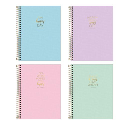 Caderno Universitário Happy 10 Matérias