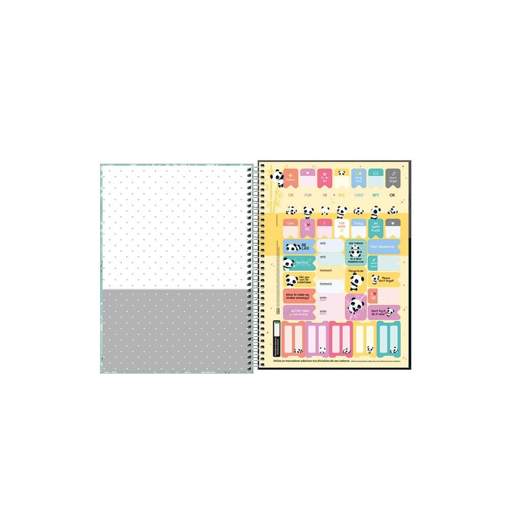 Caderno Universitário Lovely Tilibra 10 Matérias   - Papel Pautado