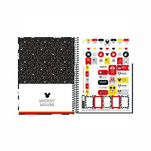 Caderno Universitário Mickey Tilibra 12 Matérias  - Papel Pautado