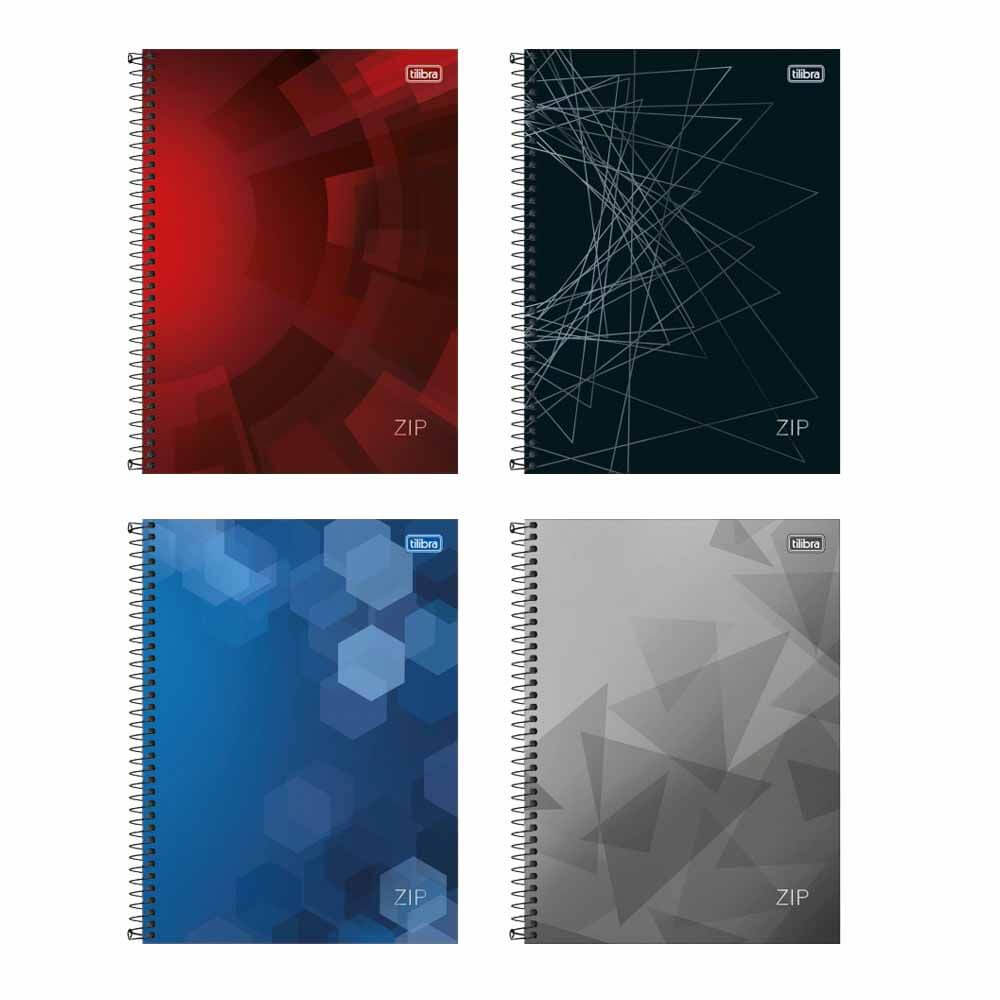 Caderno Universitário Zip Tilibra 10 Matérias  - Papel Pautado