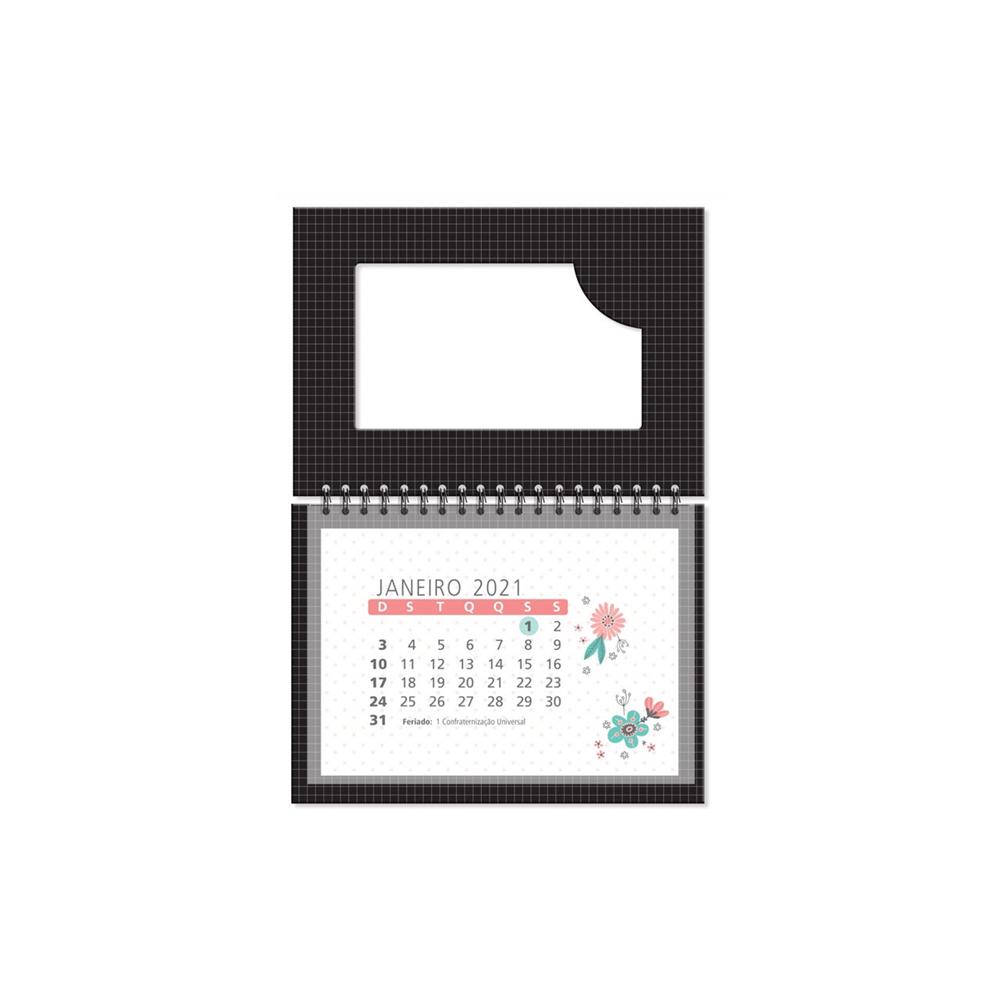 Calendário de Mesa Corações Holográficos Fina Ideia  - Papel Pautado