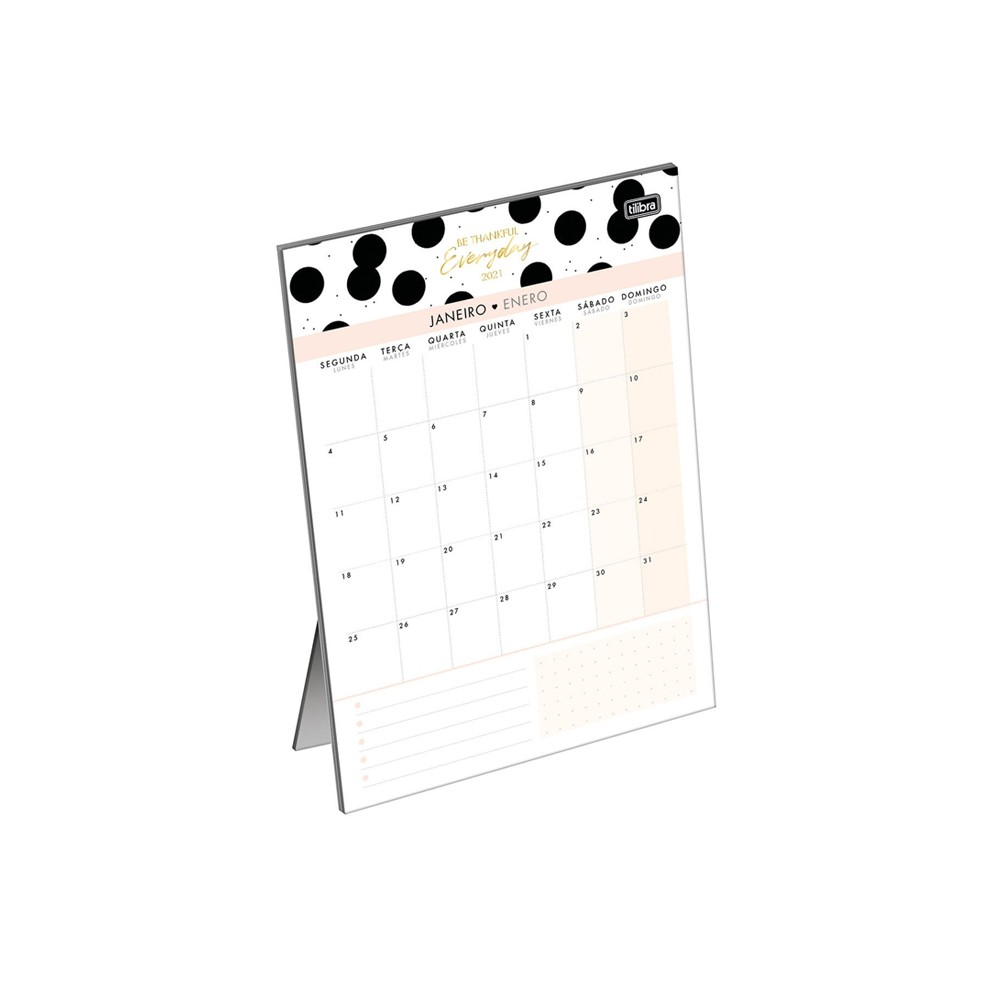 Calendário Planner De Mesa Tilibra West Village 2021  - Papel Pautado