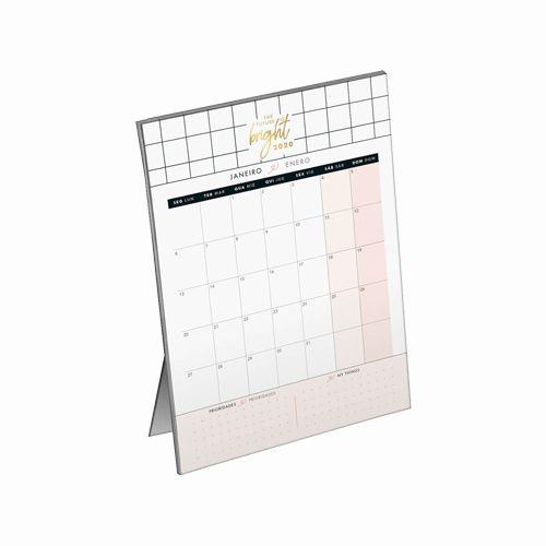Calendário Planner de Mesa West Village 2020
