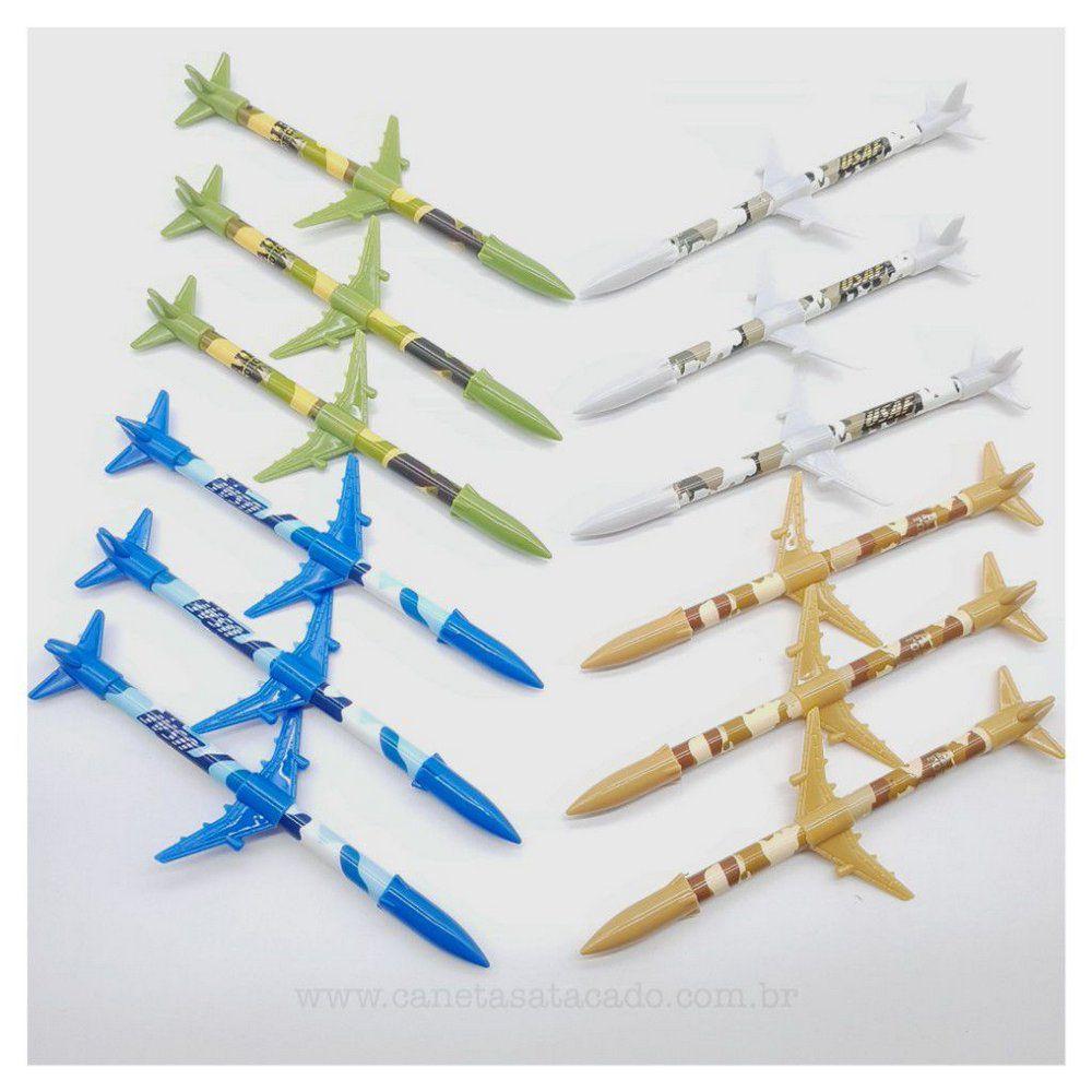 Caneta Avião  - Papel Pautado