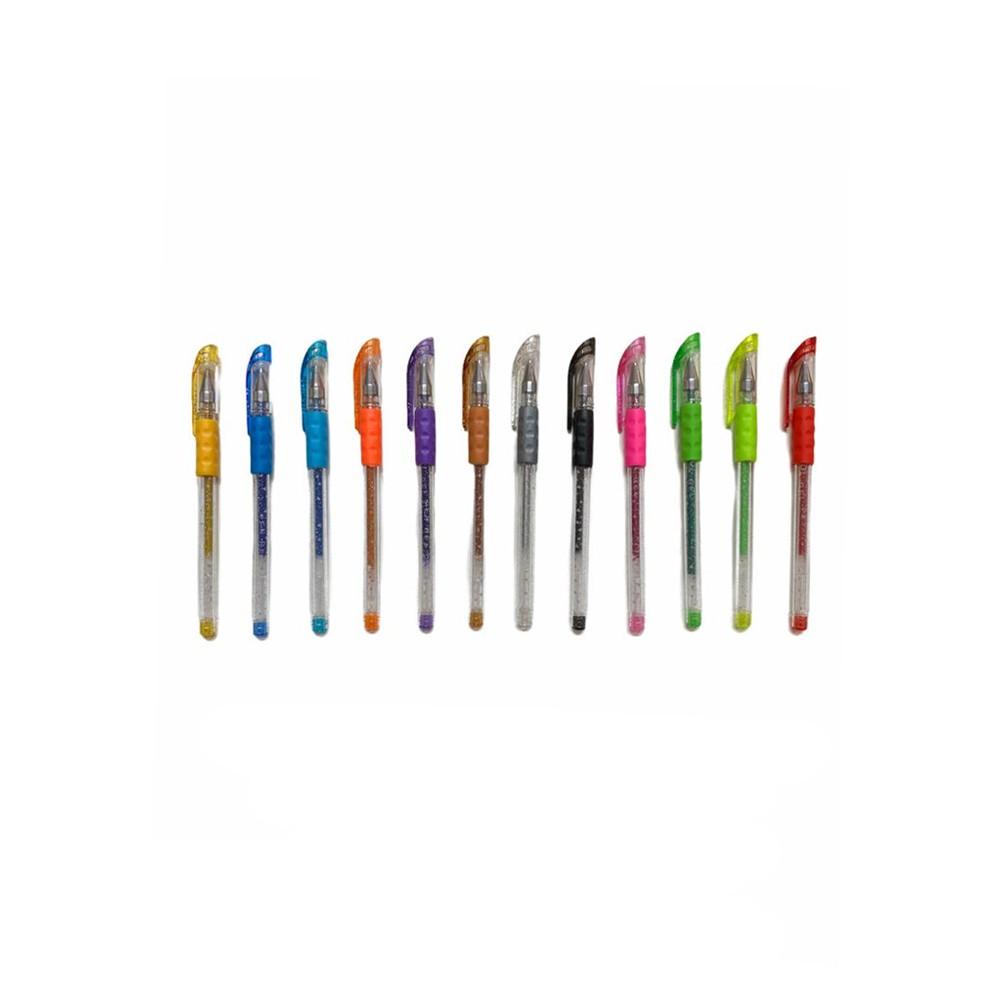 Caneta em Gel Glitter Flash Pen  - Papel Pautado