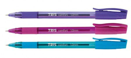 Caneta Esferográfica Tris Comfort Fashion 1,0mm  - Papel Pautado