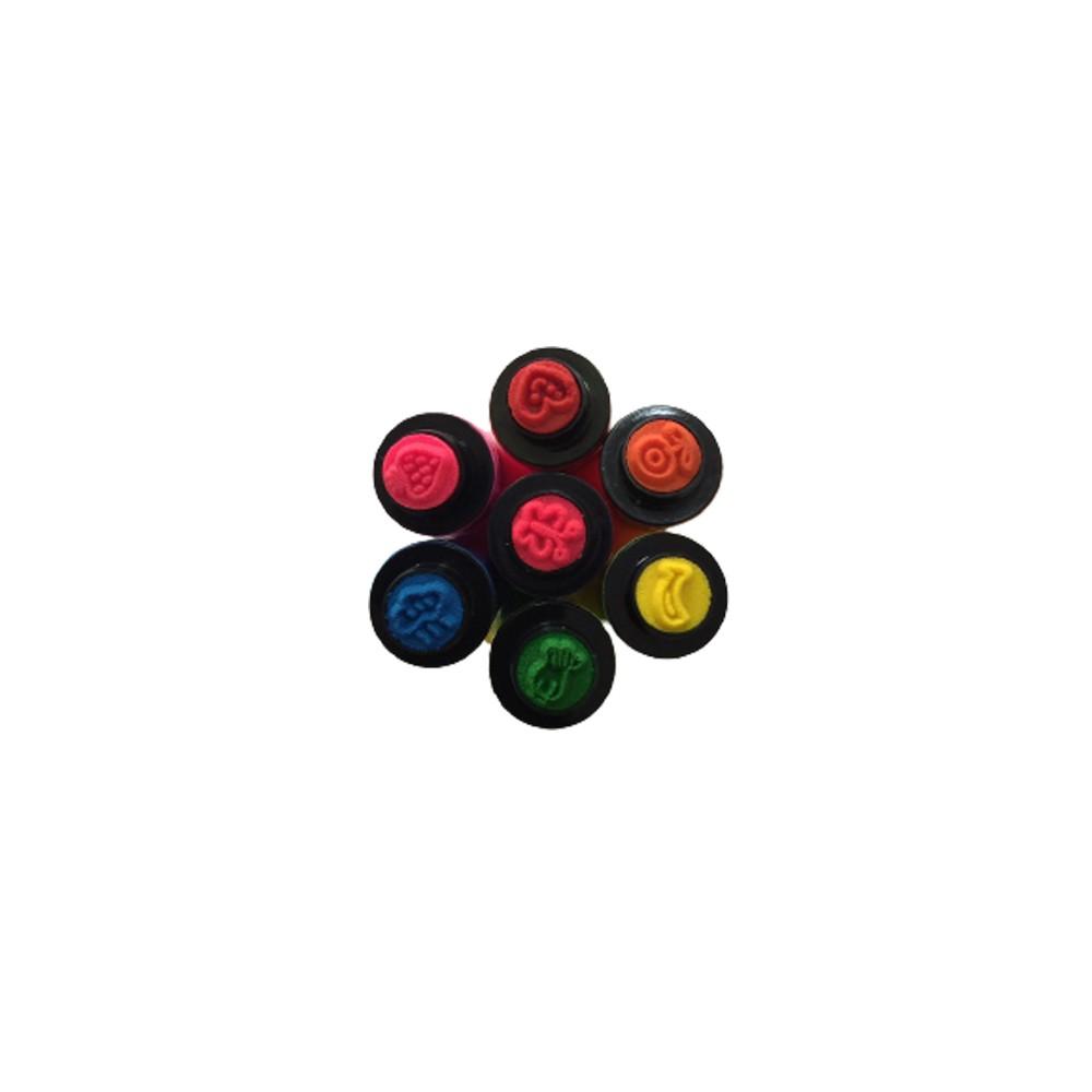 Caneta Hidrocor Carimbo 12 Cores  - Papel Pautado