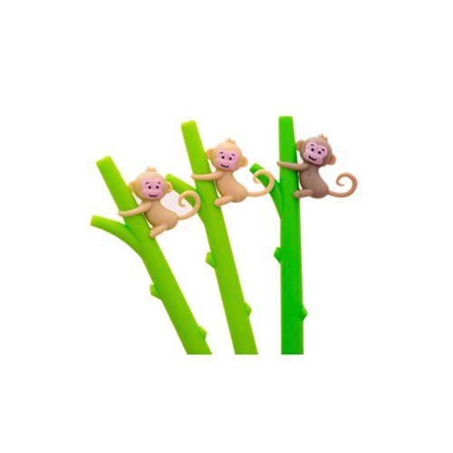 Caneta Macaco  - Papel Pautado