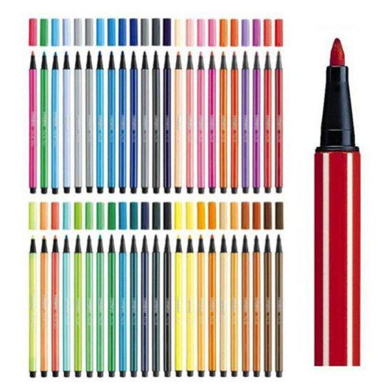 Caneta Stabilo Pen 68  - Papel Pautado