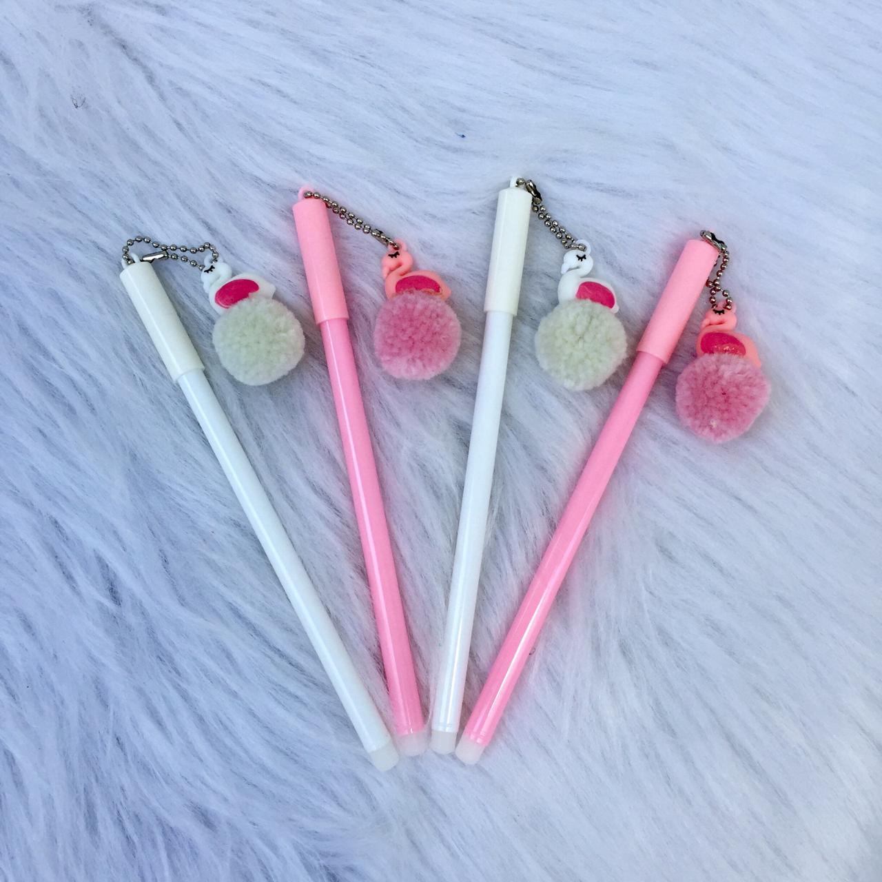 Caneta Flamingo Pompom  - Papel Pautado