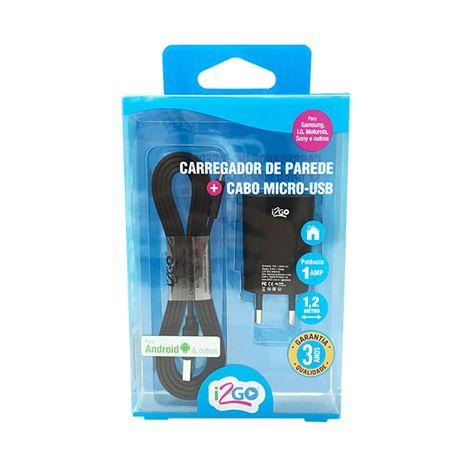 Carregador de Parede + Cabo Lightning I2GO  - Papel Pautado