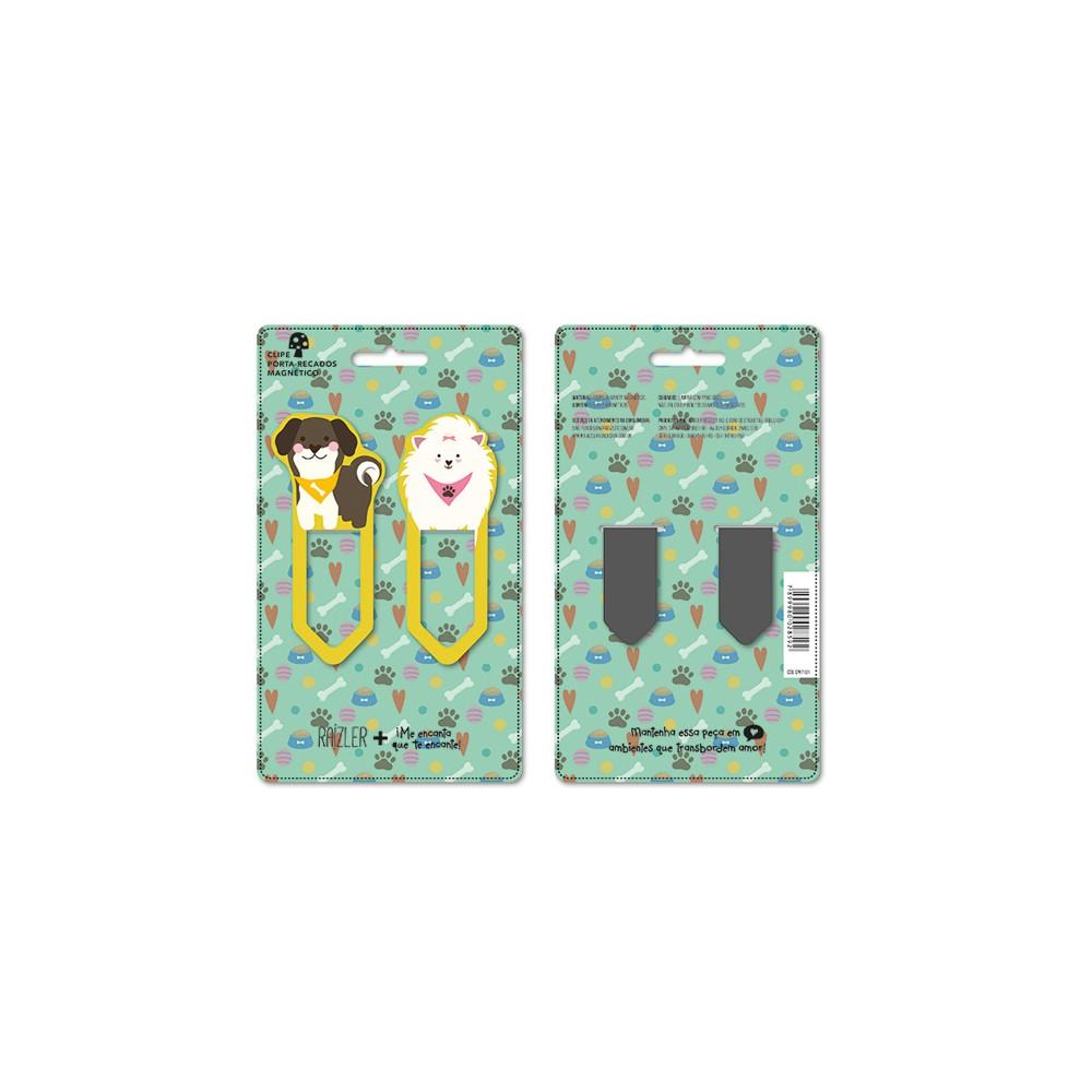 Clip Porta Recado Magnético  - Papel Pautado