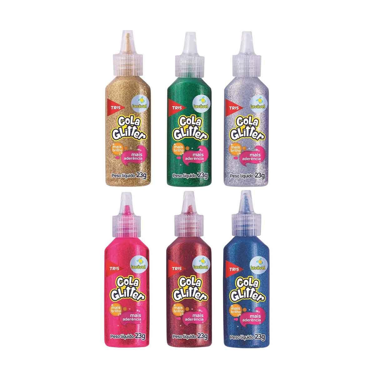 Cola Glitter Tris 23g  - Papel Pautado