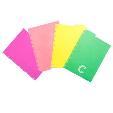 Divisórias Caderno Inteligente Pastel  - Papel Pautado