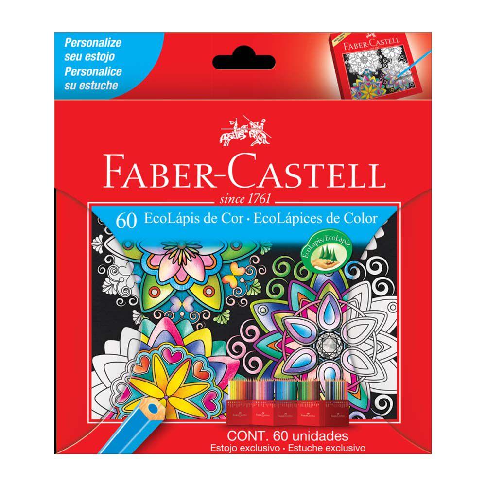 EcoLápis de Cor Faber Castell 60 Cores  - Papel Pautado